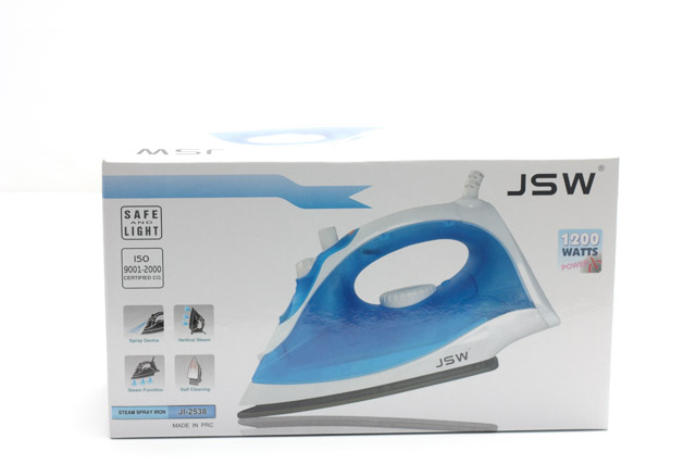 JSW Steam Spray Iron JI2538 in the box