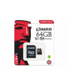 Kingston 64GB Micro SDXC Canvas Select