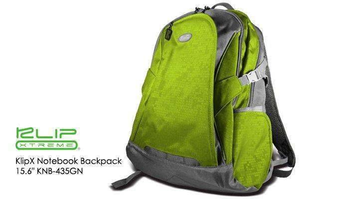 """KlipX Notebook Backpack 15.6"""" KNB-435GN Green"""