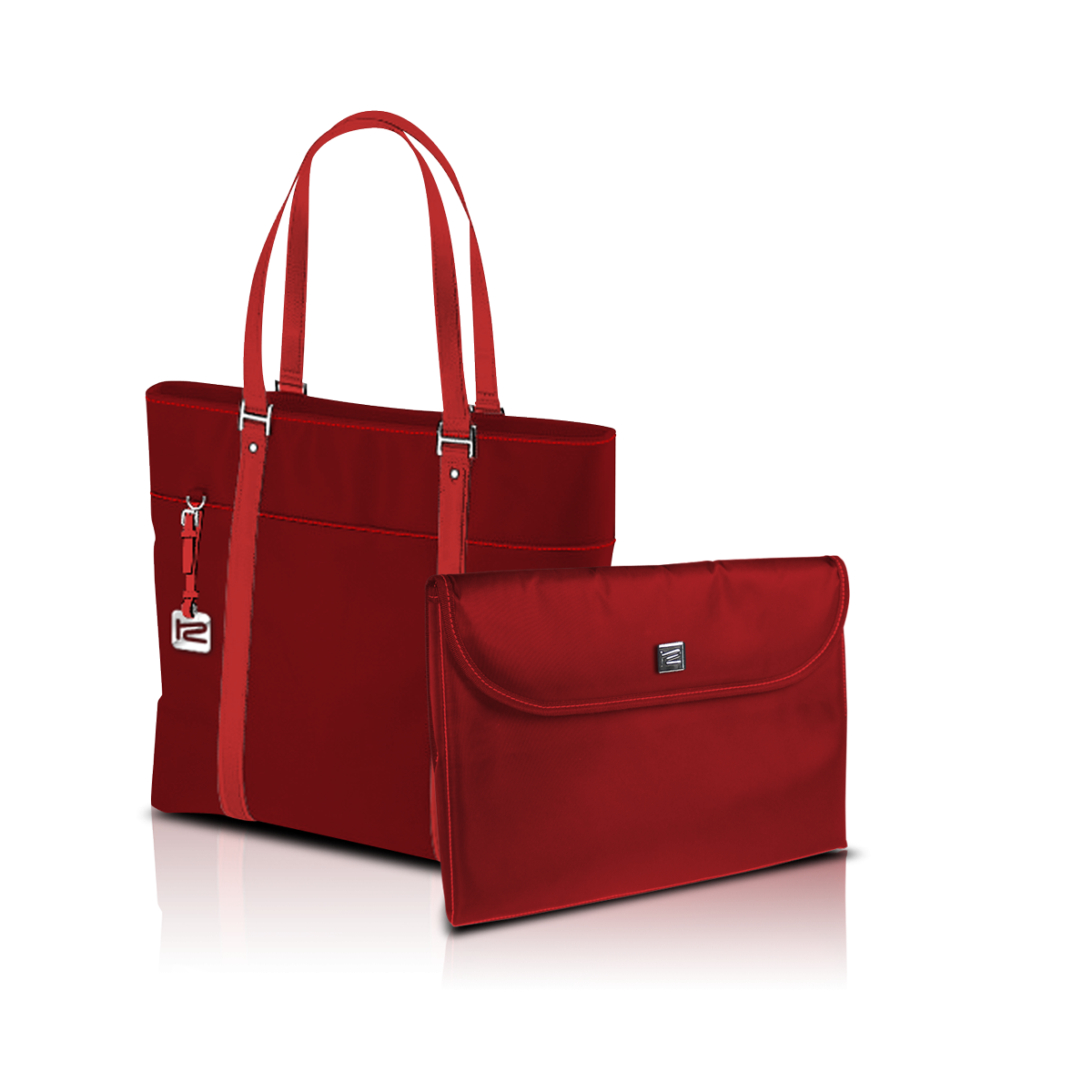 "KlipX Verona Handbag in Red up to 15.4"" (KNB-460RD)"
