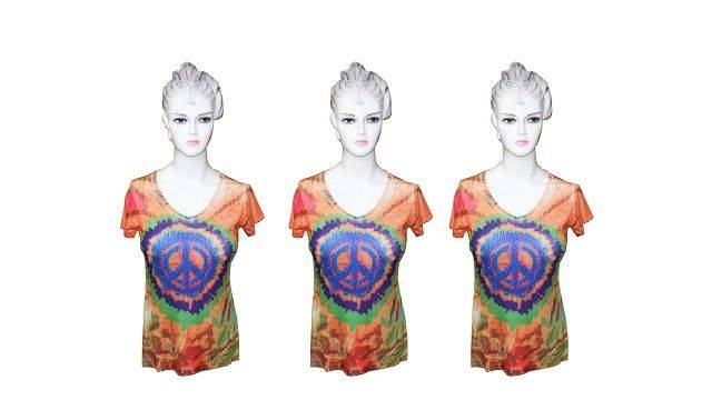 Ladies Orange and Purple Sublimation Top