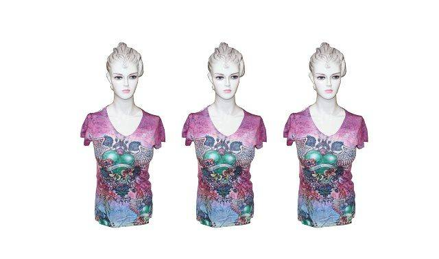 Ladies Pink Sublimation Top