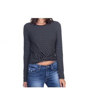 Long Sleeve Front Twist Shirt
