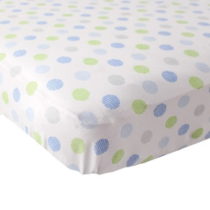Luvable Friends Polka Dot Fitted Crib Sheet 40128