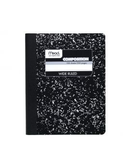 Mead 100 Sheets/200 Pages Wide Rules Composition Notebook