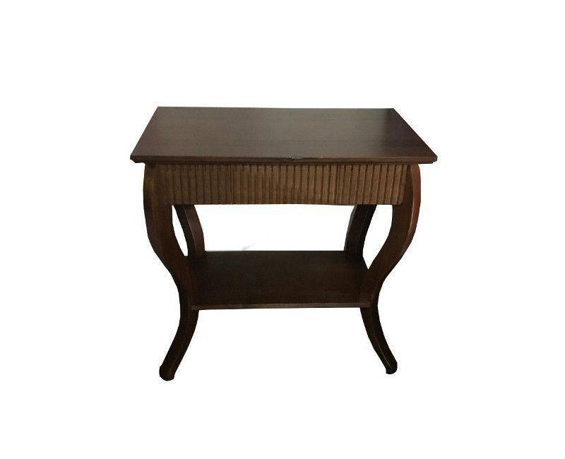 Walnut color wooden console