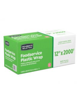 "Member's Selection Food Service Plastic Wrap 12"" x 2000"""