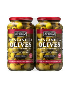 Member's Selection Manzanilla Olives Stuffed with Pimentos 33.5 Oz. 2 Pack