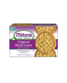 Milton's Craft Bakers Multi Grain Crackers 8.3 Oz. 4 Pack
