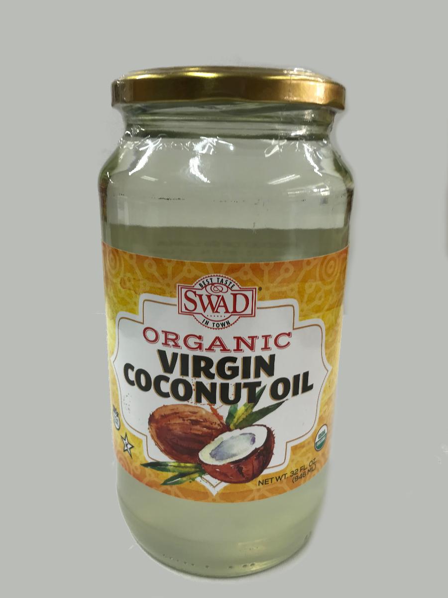 Swad Premium Organic Virgin Coconut Oil 32 FL. OZ.