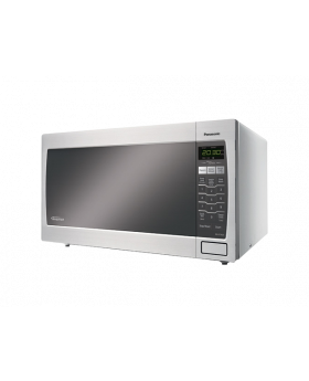 Front-view-of-Panasonic-1.6-CB-Stainless-Steel-Microwave