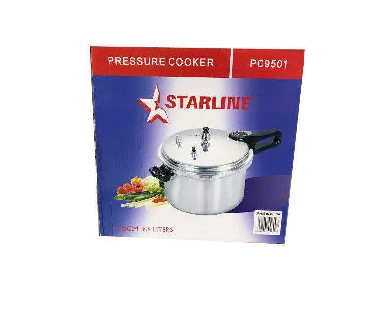 Starline PC 9501 Aluminum Body 26CM Pressure Cooker With 9.5 Liter Capacity