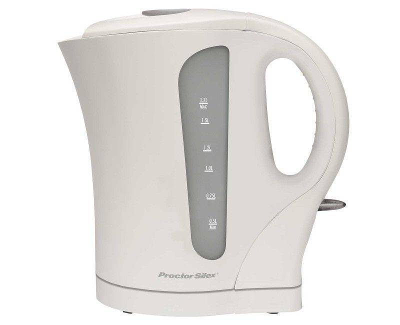 PROCTOR SILEX WHITE 1.7L ELECTRIC KETTLE