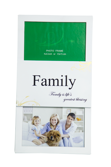 Front-view-of-Rainbow-Double-4x6-White-Family-Photo-Frame
