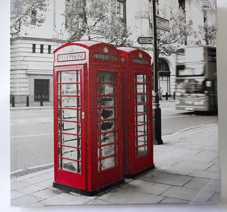 Red Phone Booth Drawing