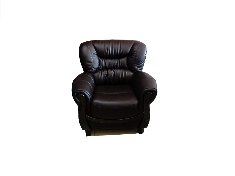 Roshley 1 Seater Classic Dark Brown Leatherette Sofa