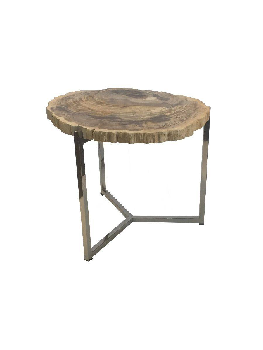 Oval Rough Edge Wooden top End Table