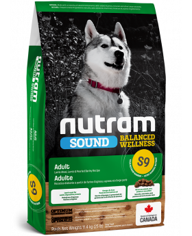 S9 Nutram Sound Balanced Wellness 2.72kg Adult Lamb Natural Dog Food
