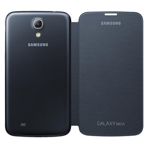 Rear view of the Samsung Galaxy Mega Black Flip Cover