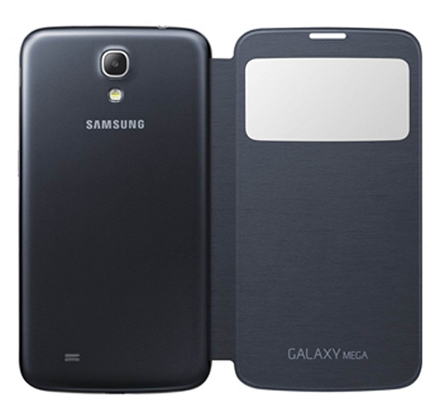 Samsung Galaxy Mega Black Sview Cover opened