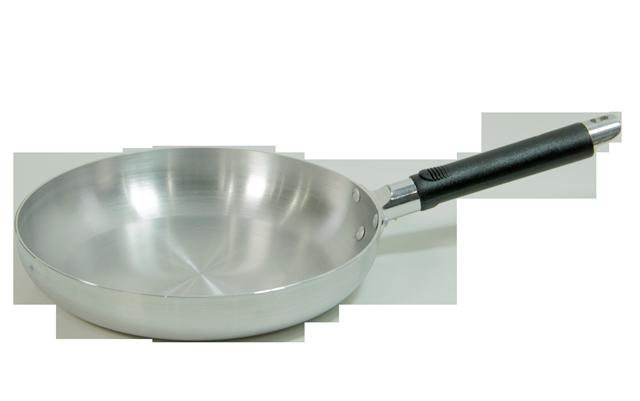 "Shiny Aluminum 9.5"" Frying Pan"