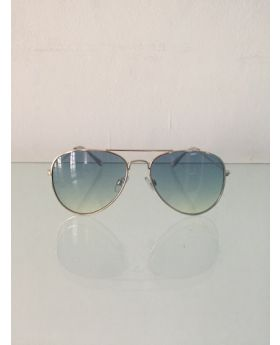 Shady Island Gold and Blue Sunglasses