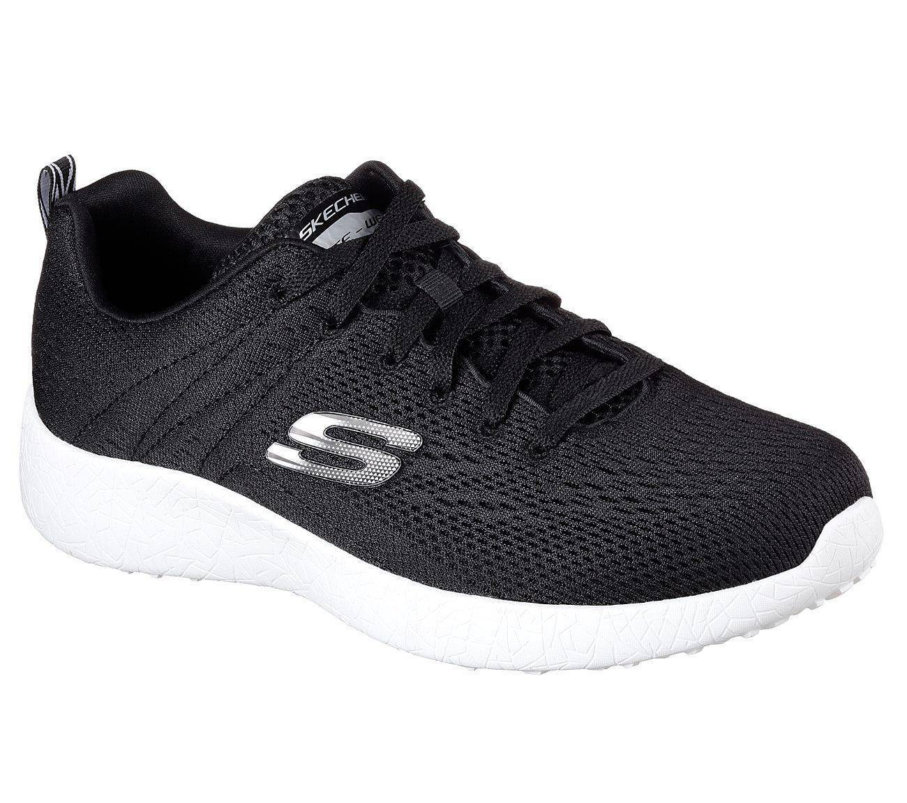 Skechers Mens Black and White Energy Burst Training Shoes -9