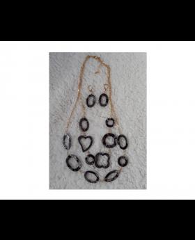 Snake Print Necklace Set
