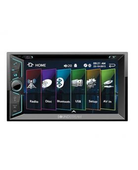Soundstream VR-624B Double DIN Bluetooth in-Dash DVD/CD/AM/FM Car Stereo Receiver with 6 Inch Screen