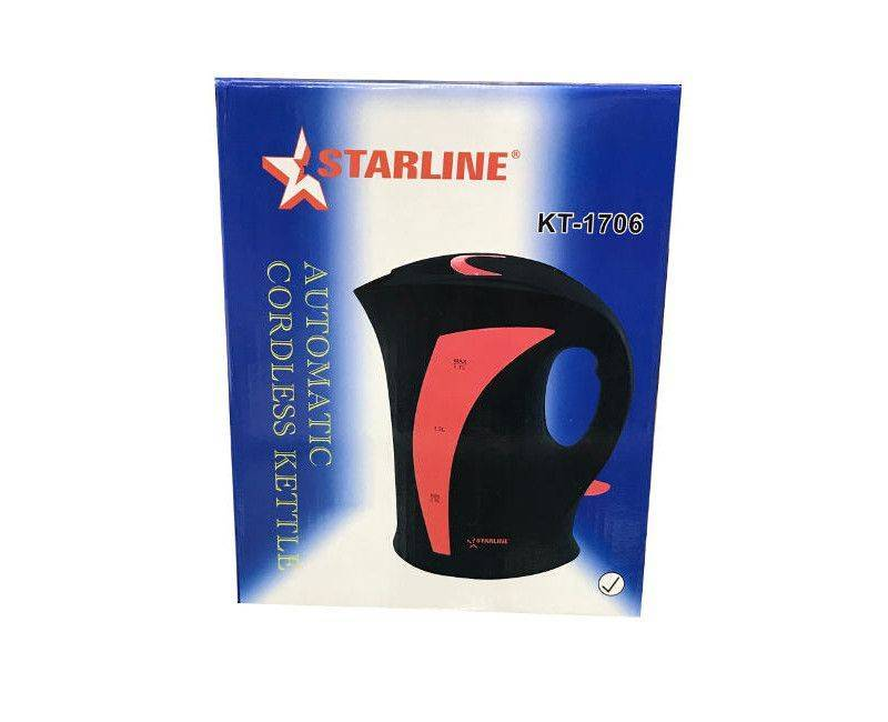 Starline Automatic 1.7L KT - 1706 Cordless Automatic Switch -OFF Kettle
