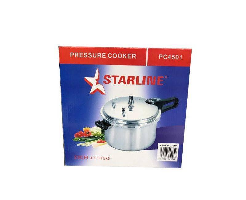 Starline PC4501 20CM 4.5 Liters Pressure Cooker in box