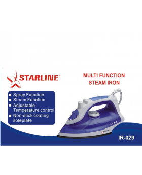 Starline Steam Iron IR-012 with Steam Function and Non Stick Soleplate