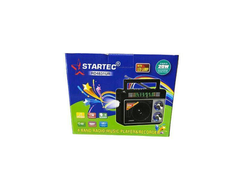 Startec RD 4831 UR 4 Band Radio/Music Player & Recorder With LED Lamp 20W