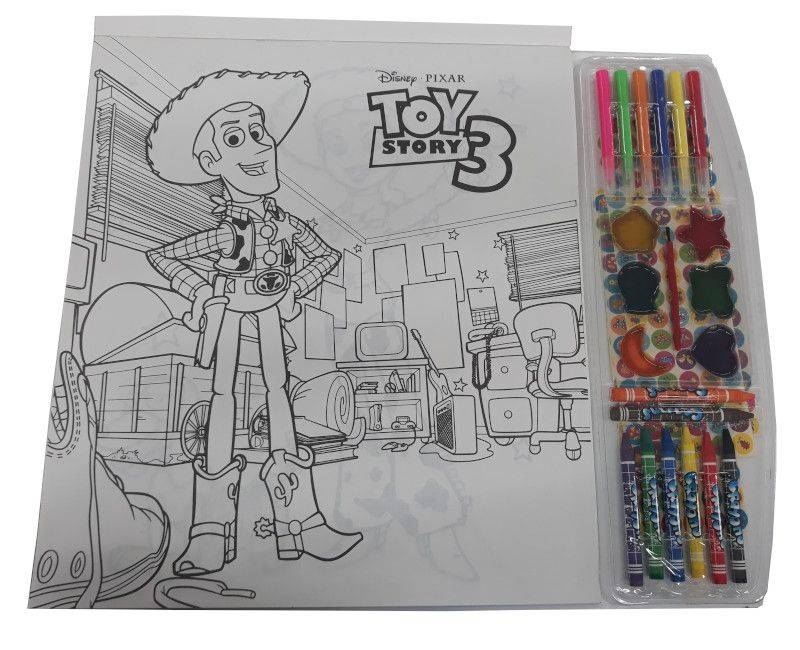 Toy Story 4 In 1 Jumbo Floor Pad Coloring Book- picture