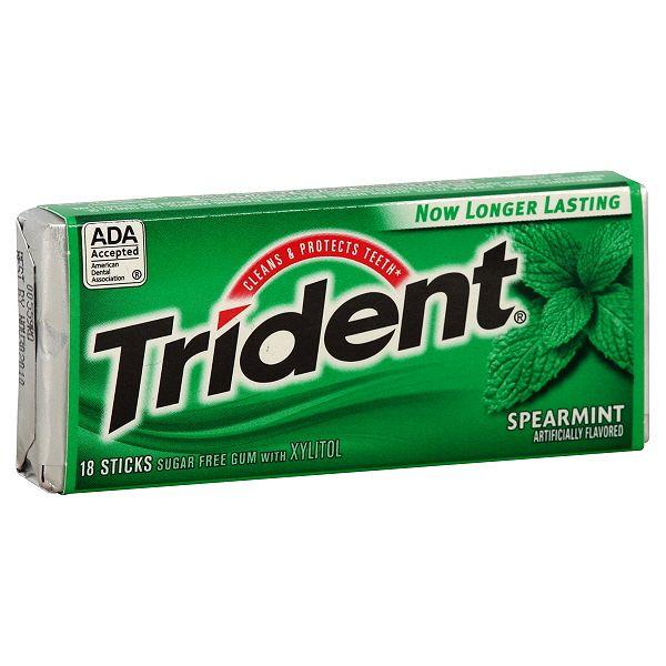 Trident Spearmint Chewing Gum