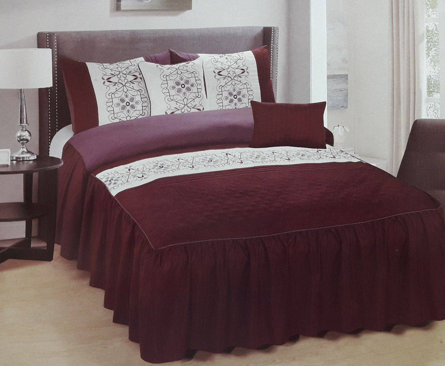 Private Collection 5 Pieces Luxury Embroidery Bedspread Set- Tursi