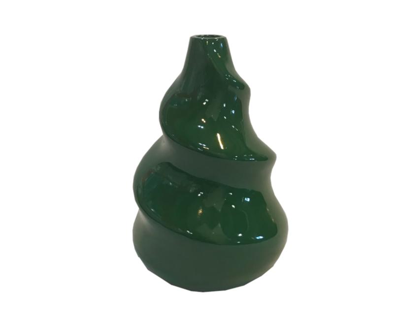 Twirl Green Decorative Vase
