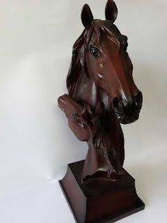 Two Horses Wood Carving