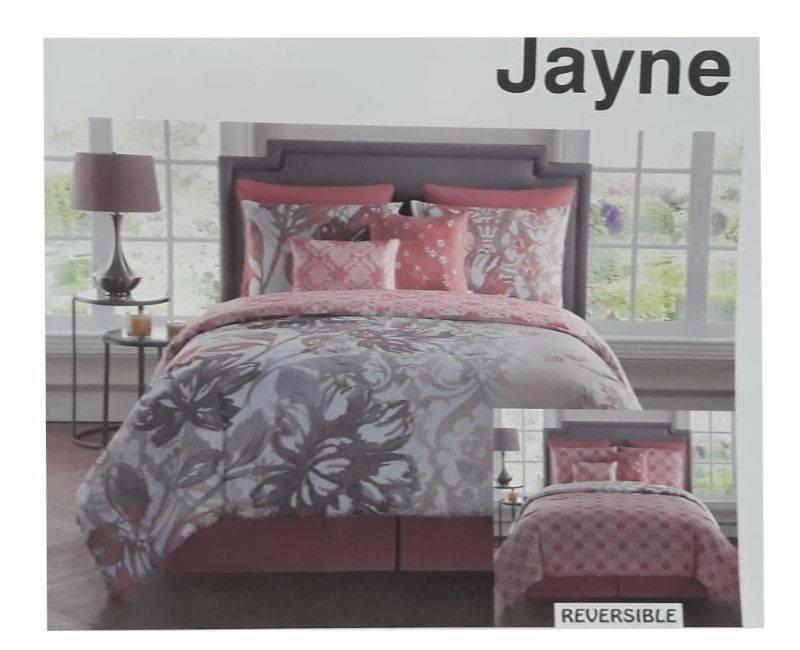 Victoria Classics Jayne Reversible 8pc Comforter Set King - Coral