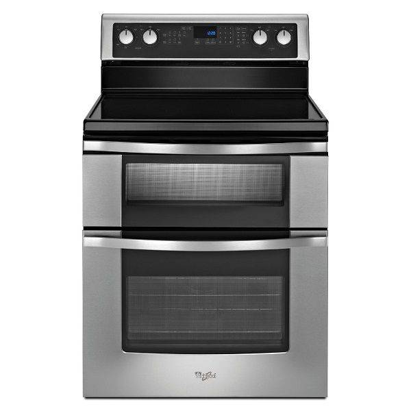 Whirlpool 30' Electric Stove Ceramic Top S/Steel Double Oven