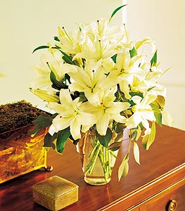 White Lilies Floral Arrangement