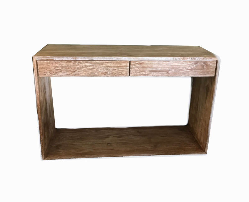 White Wash Wooden Minimalis Console Table