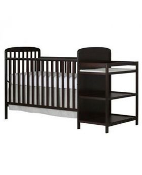 Wonder Baby 4 in 1 Crib with Changing Table with Shelves