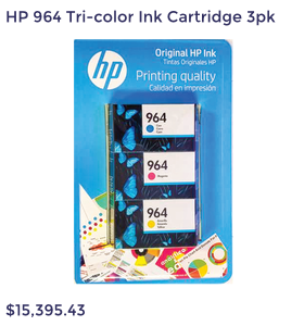 HP 964 Tri-color Ink Cartridge 3pk